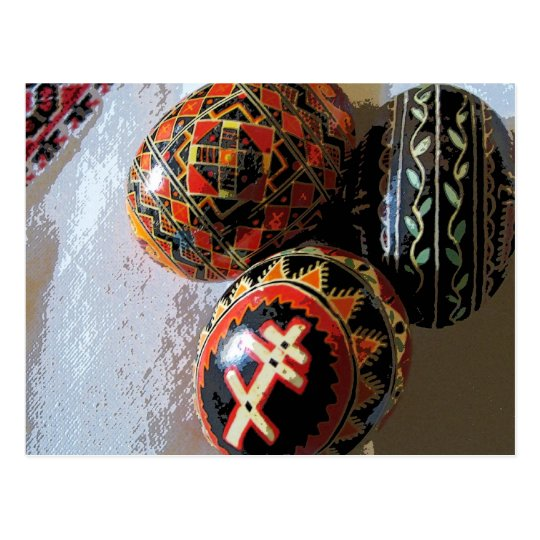 Three Pysanky Postcard