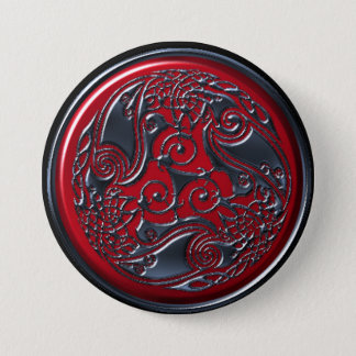Three Ravens Ruby Shield Button