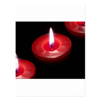 Three Red Candles Postcard