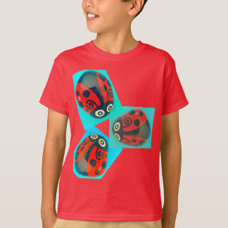 Three Red Ladybugs children t-shirt