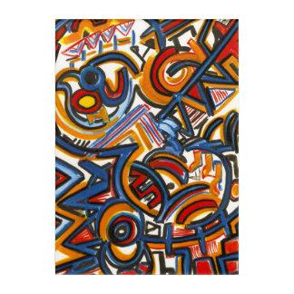 Three Ring Circus-Abstract Art Hand Painted