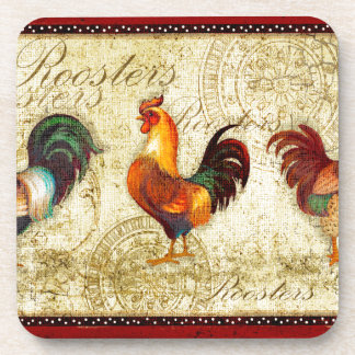Three Roosters Coaster