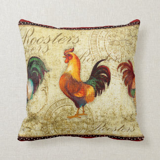 Three Roosters Cushion