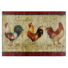 Three Roosters Cutting Board
