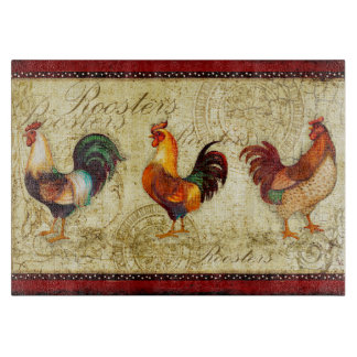 Three Roosters Cutting Boards