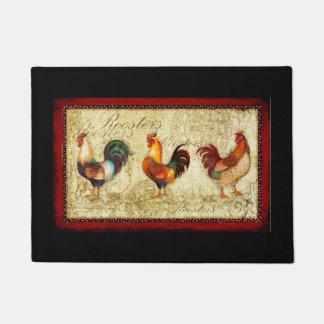 Three Roosters Doormat