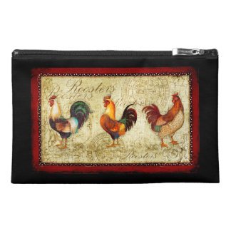 Three Roosters Travel Accessory Bag