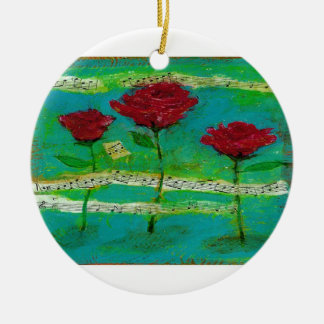 Three Roses for My Love Ornament