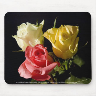 Three roses mouse mat