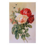 Three Roses Vintage Poster