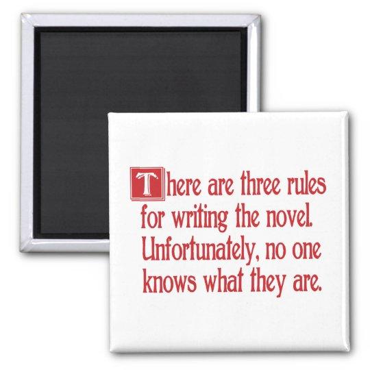 Three Rules Magnet