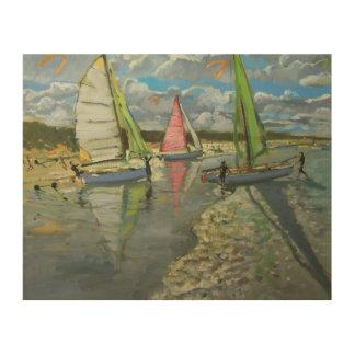 Three Sailboats Bray Dunes France Wood Canvases