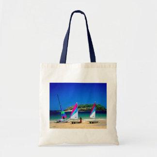 Three sailing boats in St Malo Budget Tote Bag