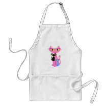 Three Sassy Retro Cats Standard Apron