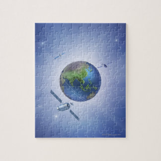 Three Satellites Jigsaw Puzzle