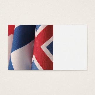 three scandinavian flags business card