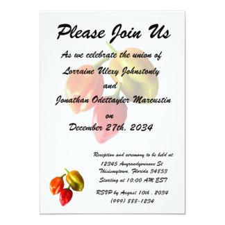 Three Scotch Bonnet Peppers Red Orange Yellow 13 Cm X 18 Cm Invitation Card