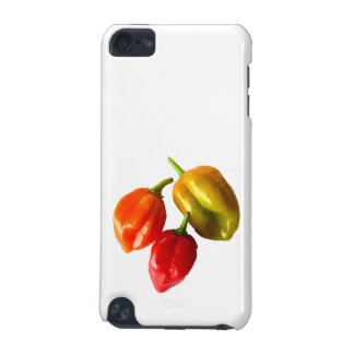 Three Scotch Bonnet Peppers Red Orange Yellow Pic iPod Touch (5th Generation) Covers