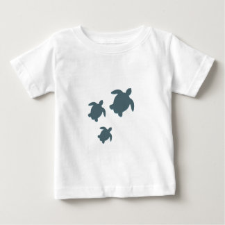 Three Sea Turtles Swimming Together Baby T-Shirt
