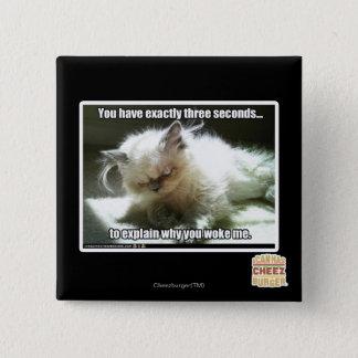 Three seconds 15 cm square badge