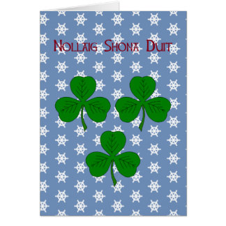 Three Shamrocks Card