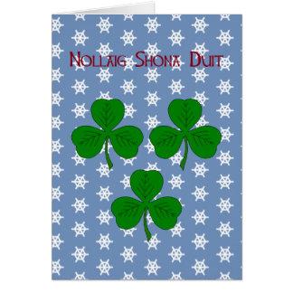 Three Shamrocks Christmas Card