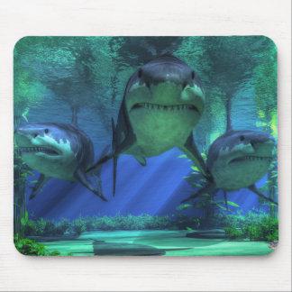 Three Sharks Mouse Mat