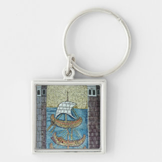 Three ships entering the port of Ravenna Key Ring