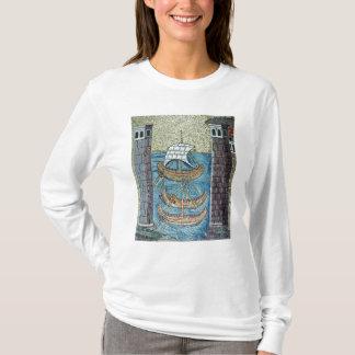 Three ships entering the port of Ravenna T-Shirt