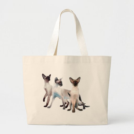 Three Siamese Cats Bags