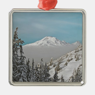 Three Sisters from Bachelor Butte - No Text. Christmas Ornament