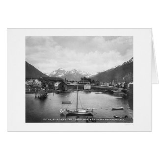 Three Sisters Mountains Sitka 1912 Card