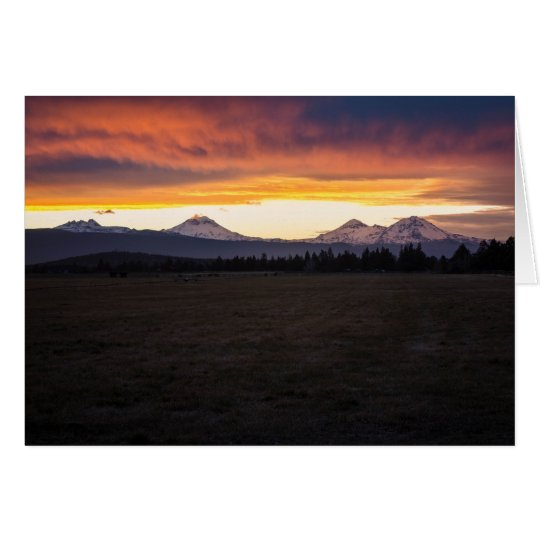 Three Sisters Sunset Greeting Card (Blank)