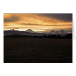 Three Sisters Sunset Greeting Card II (Blank)