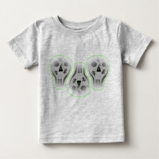 Three skulls with green baby T-Shirt