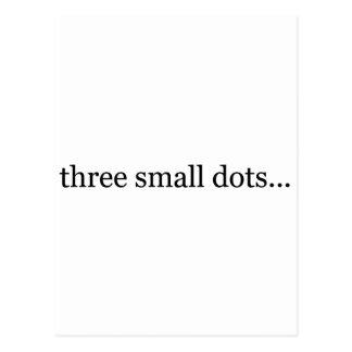 three small dots postcard