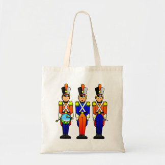 Three Smart Toy Soldiers on Parade Budget Tote Bag
