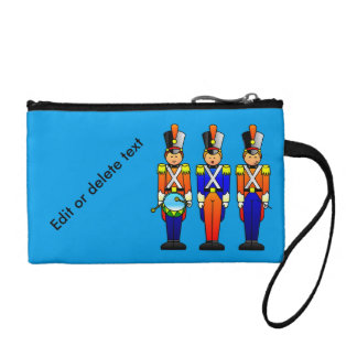 Three Smart Toy Soldiers on Parade Change Purse