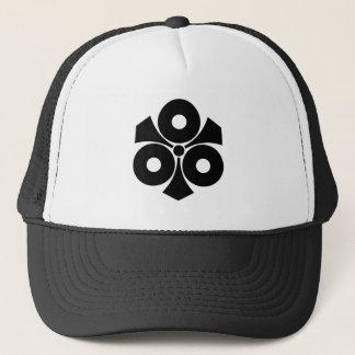 Three snake eyes with swords trucker hat
