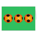 Three Soccer Balls Greeting Cards