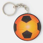 Three Soccer Balls Keychains