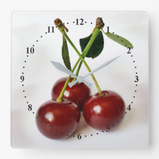 three sour cherries clock