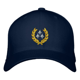 Three Star General Embroidered Baseball Caps