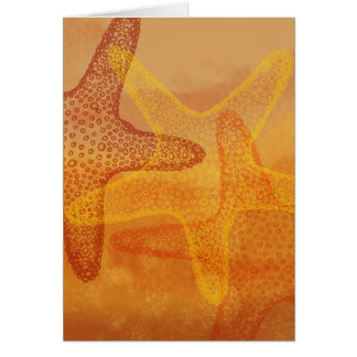 Three starfish card