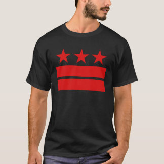 Three Stars and Two Bars Black T-shirt