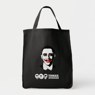 THREE STOOGES BUMPER STICKER GROCERY TOTE BAG
