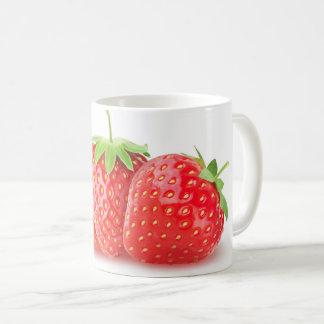 Three strawberries coffee mug