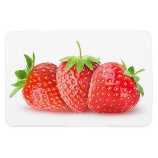 Three strawberries magnet