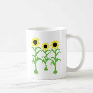 three sun flowers icon mug