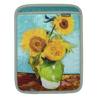 Three Sunflowers by Van Gogh Fine Art iPad Sleeve